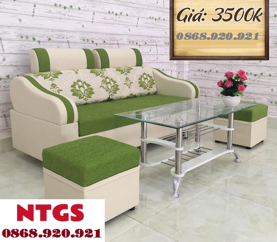 Sofa Mini 2 Chổ Xanh Lá SF018