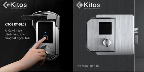Khóa vân tay cửa sắt Kitos KT-DL02